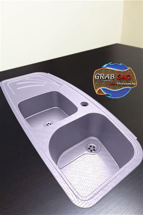 Sink Second Model Free 3d Model Cgtrader Com Second Kitchen Sinks