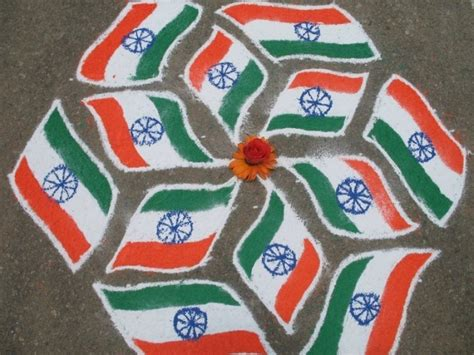 15 August Independence Day Decoration by Best Office Decoration Ideas For 15th Aug Easy Rangoli