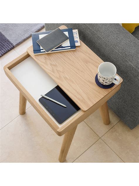shop side table with removable tray house by lewis bow side table with removable tray at
