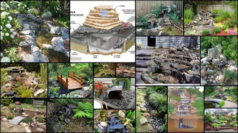 diy backyard waterfall diy backyard waterfalls with bridges pondless waterfalls
