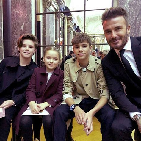 david beckham family biography beckham family joined victoria s fashion show in new york