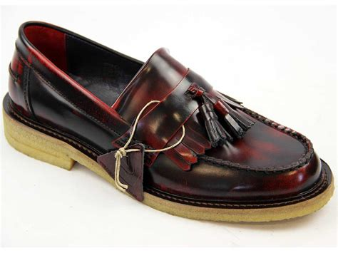 crepe sole loafers delicious junction rudeboy mod crepe sole tassel loafers bordo