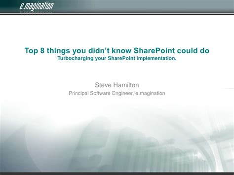 8 Things You Didnt You Could Put In Your Usb Slot by Top 8 Things You Didn T Sharepoint Could Do