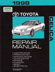 car repair manuals online free 1998 toyota celica electronic toll collection 1998 toyota celica factory repair manual