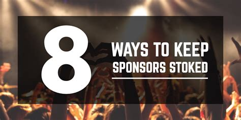 8 Ways To Hes A Keeper by 8 Ways To Keep Sponsors Stoked