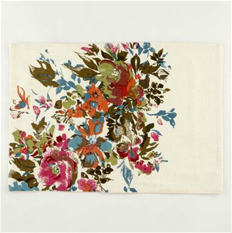 Floral Table Mats watercolor floral placemats contemporary placemats