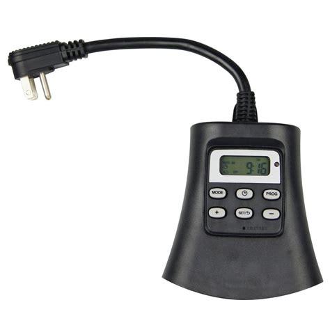 outlet outdoor digital timer tm   home depot