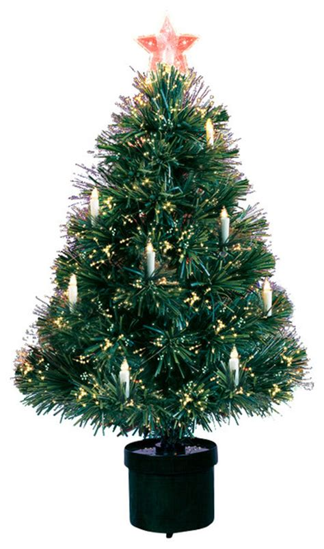 pre lit fiber optic artificial christmas tree with candles