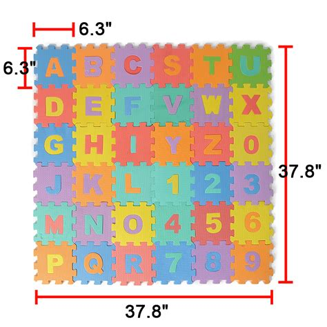Foam Floor Alphabet And Number Puzzle Mat by 36 Large Interlocking Foam Alphabet Letters Numbers