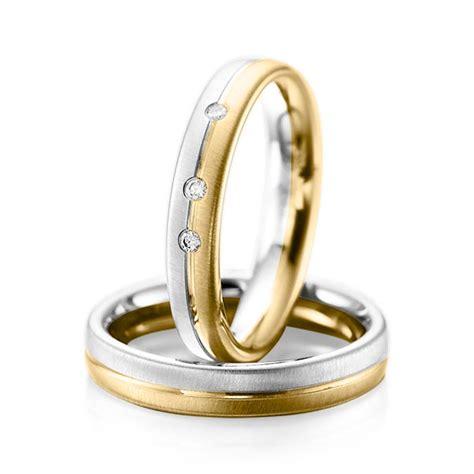 Trauringe Gold 585 by Trauringe Weissgold 585 Gelbgold 585 Mit 0 06 Ct Tw Si