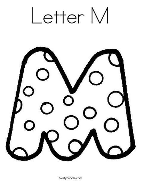 Letter M Coloring Page Twisty Noodle Letter Mm Coloring Letter Pages 2