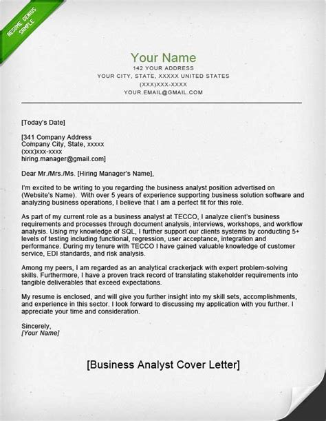 Cover letter for trainee financial analyst position