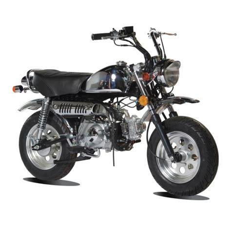 Le Skymini Monkey 125cc une moto scooter nerveuse et maniable.