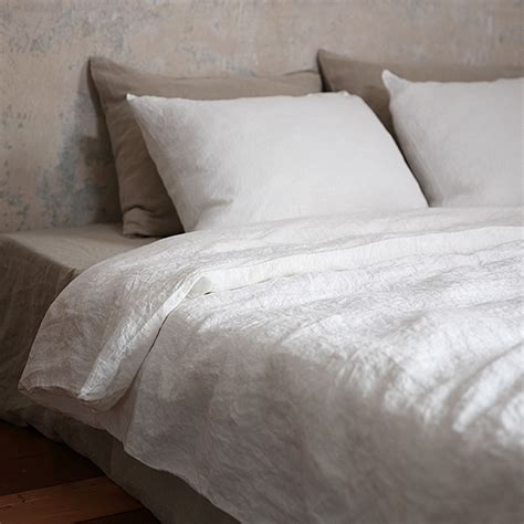 white linen bedding off white washed bed linen duvet linen duvets linenme