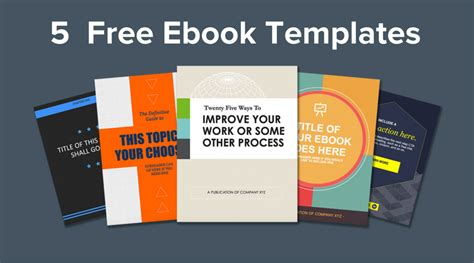 templates for ebooks ebook template powerpoint free 5 ebook templates