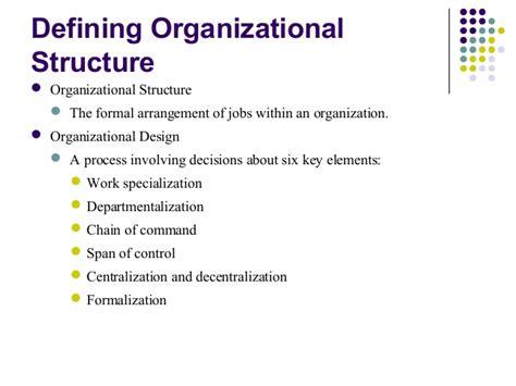 design hierarchy definition organizational design principles