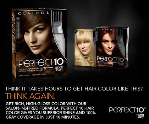 perfect 10 hair color chart amazon com clairol perfect 10 by nice n easy hair color