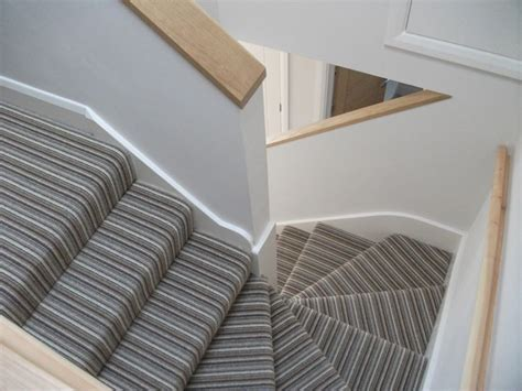 Landing Banister Crucial Trading Mississippi Stripe On Stairs Carpets I