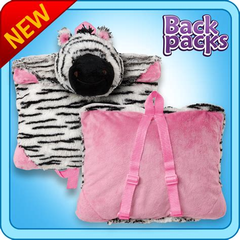 Pillow Pet Backpack by Authentic Pillow Pet Zebra Backpack For Notebooks And