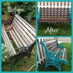 wooden garden bench goodstuffathome diy how to restore a cast iron and wood garden bench gardens wrought iron and