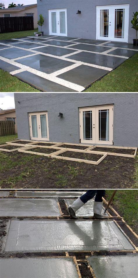 poured concrete patio create a stylish patio with large poured concrete pavers