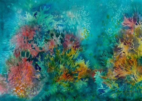 coral watercolor coastal home originals watercolors and original paintings