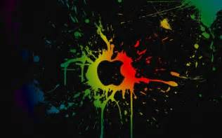 colorful mac computer apple inc colorful paint splatter hd wallpapers