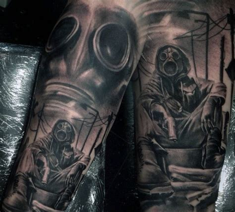 doomsday tattoo 100 gas mask designs for breath of fresh ideas