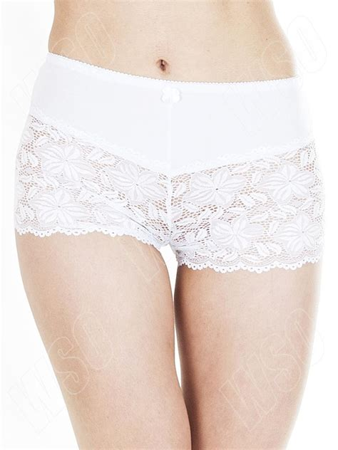 Lace Boy Shorts new womens half lace knickers boxer boy