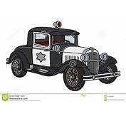 Vintage Police Car Stock Vector  Image 57483825