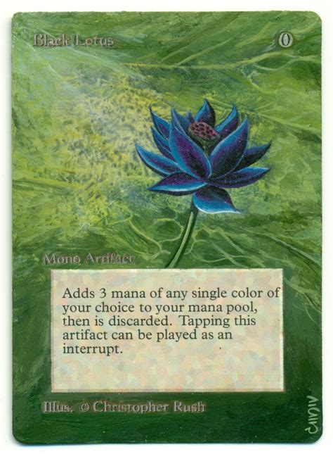 black lotus mtg ebay black lotus authentic unlimited altered vintage mtg