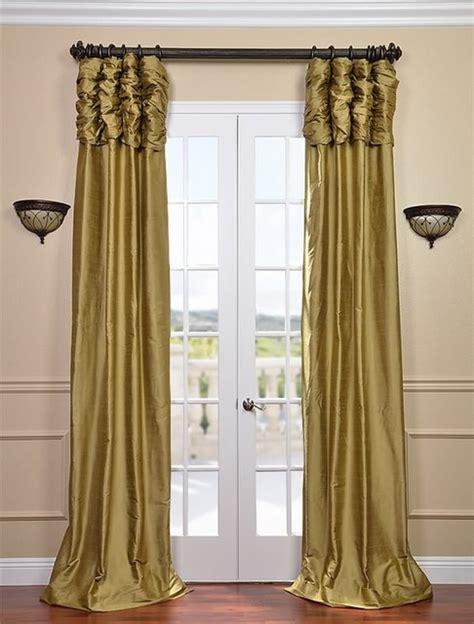 dust curtains ruched gold dust thai silk curtain traditional