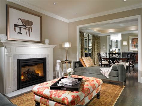 estate model home brton traditional living room