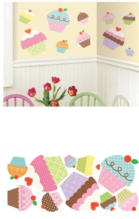 cupcake wall stickers happi cupcake wall decals