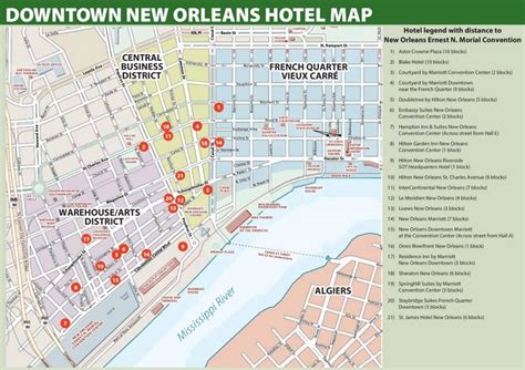 map new orleans new orleans hotel map