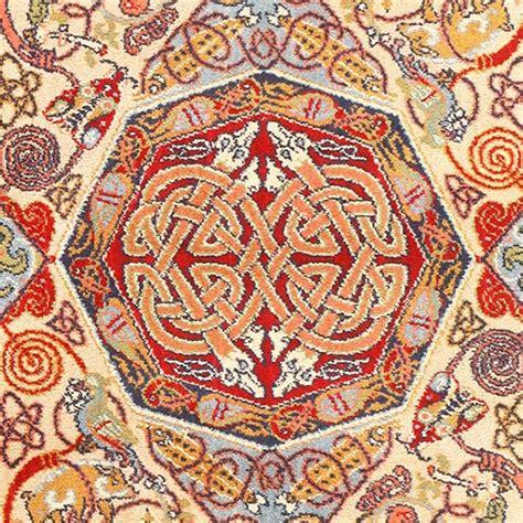celtic knot rug vintage celtic rug by artist george bain for sale at 1stdibs