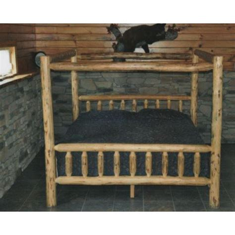 log canopy bed log furniture collection canopy bed amish crafted furniture