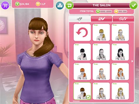 how do you get long hair on sims freeplay