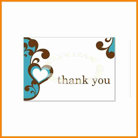 free thank you card templates 11 free thank you card templates for word resumed