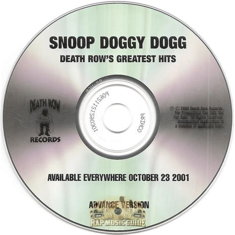 Row Records Greatest Hits Snoop Dogg Row S Greatest Hits Promo Cd Rap Guide