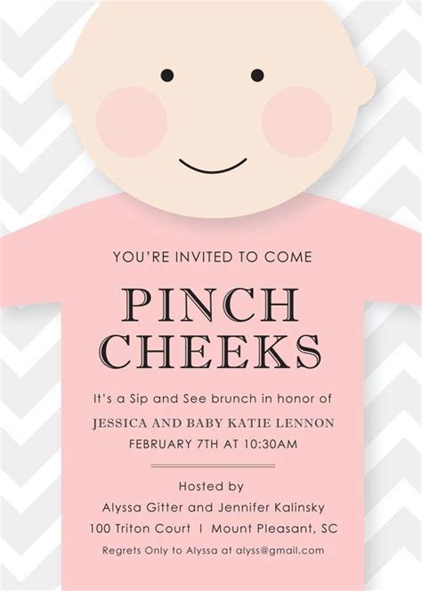 Sip And See Baby Shower by Printable Or Emailable Sip And See Baby Shower