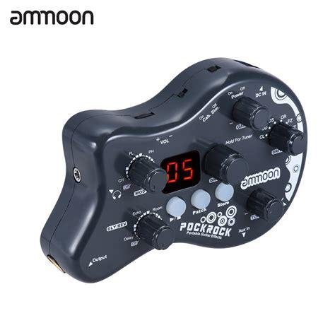 ammoon pockrock portable guitar multi effects processor
