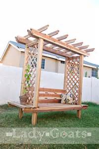 Garden Arbor With Bench White Outdoor Bench With Arbor Diy Projects