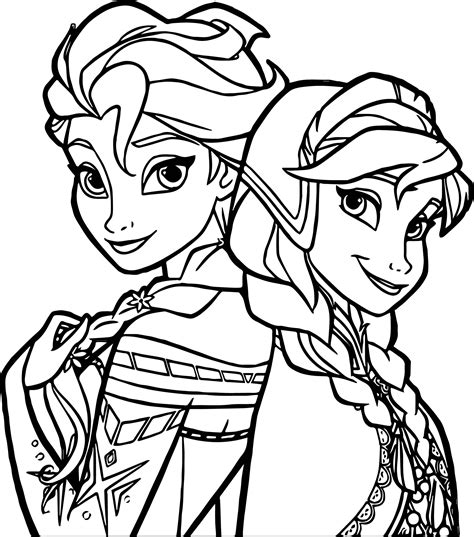 Frozen Sisters Coloring Page Wecoloringpage Frozen Coloring Pages For