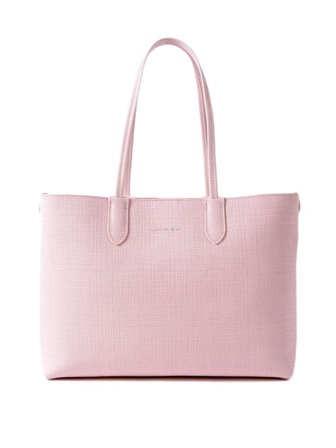 pink leather small shopping bag by mcqueen