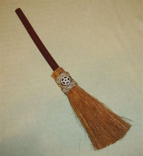 small decorative witches broom wiccan decor