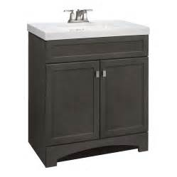 Bathroom Vanities 30 X 19 Shop Style Selections Drayden Gray Integral Single Sink