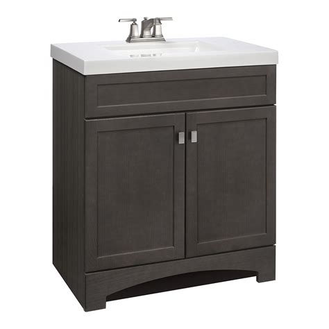 Shop Style Selections Drayden Gray Integrated Single Sink Lowes Bathroom Vanities With Sinks