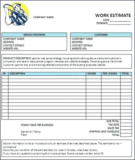 electrician contract template contractor invoice template pdf from electrician invoice