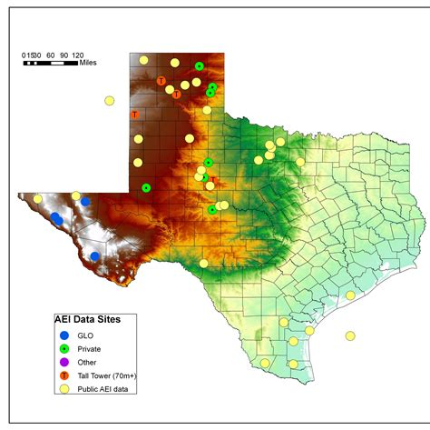 texas wind farm map wind power in texas